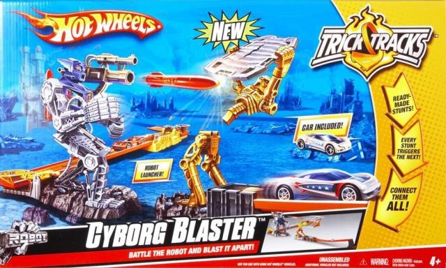 HOT WHEELS DRÁHA STARTER - CYBORG BLASTER