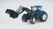 BRUDER - NEW HOLLAND T7.315 +LŽÍCE